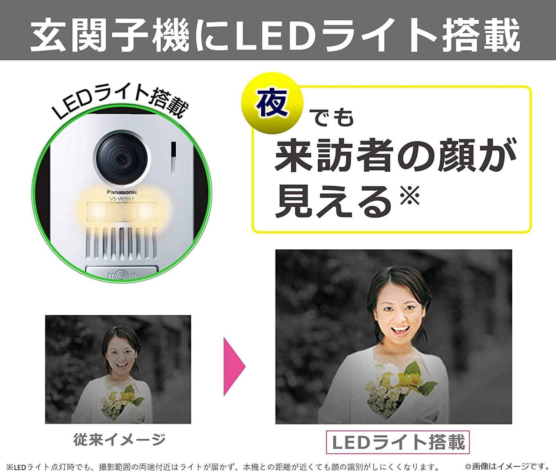 テレビドアホン LEDライト付